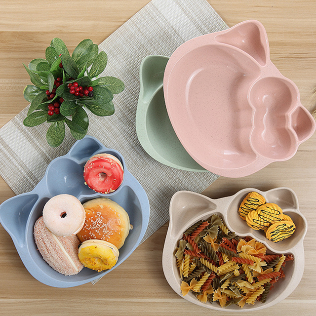 Cartoon Dishes Hello Kitty Snack Plate Dish Rice Plate Children Dinner Plate Baby Tableware Divided Dishes : home dinner plates - pezcame.com