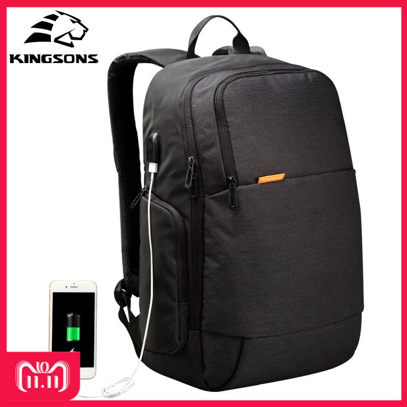 Kingsons KS3143W External USB Charge Laptop Backpack Anti-theft Notebook Computer Bag 15.6 inch for Business Men Women kingsons brand external usb charge computer bag anti theft notebook backpack 15 17 inch waterproof laptop backpack for men women