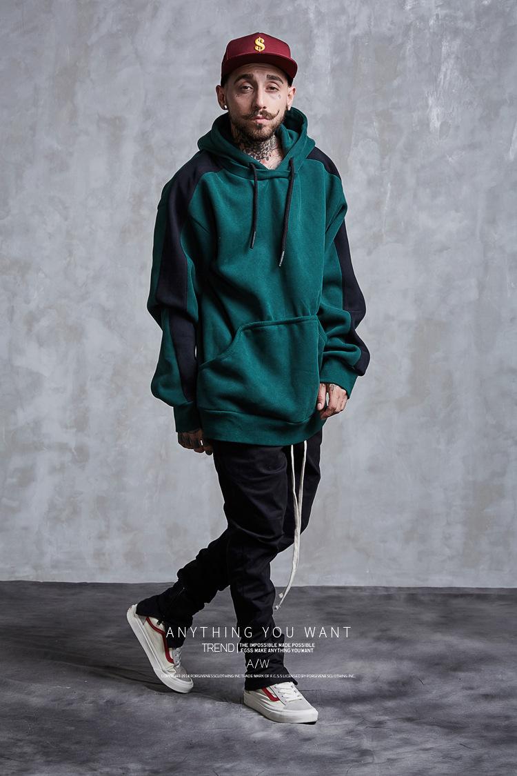 Aolamegs Hoodies Men Side Striped Hood High Street Pullover Cotton Fashion Hip Hop Streetwear Casual Big Pocket Hoodie Autumn (18)