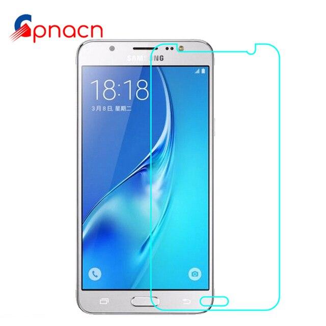 2.5D 9 H Vidro Temperado para Samsung Galaxy J3 J5 J7 2016 2015 Filme Protetor de tela para Galaxy J1 J3 J5 J7 Película de proteção caso