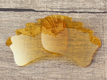 Crystal Yellow Replacement Lenses For Flak Jacket XLJ Vented Sunglasses Frame 100 UVA UVB Protection