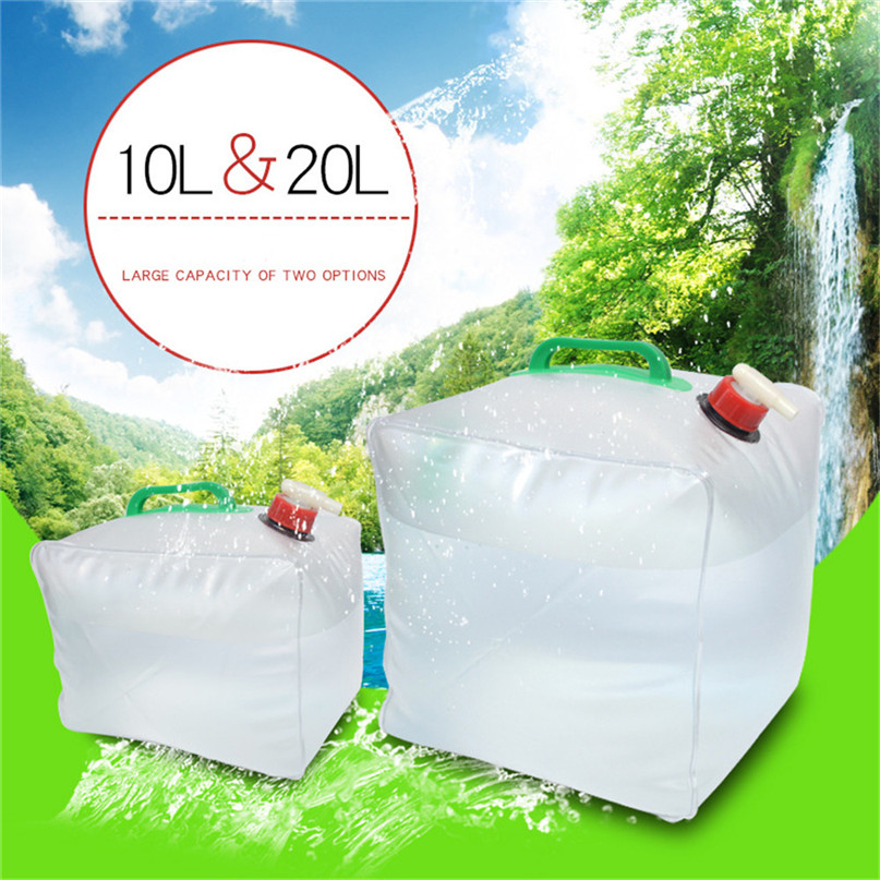 Portable water storage container Collapsible Water Carrier Bag Emergency Water Bag for Camping survival #2y15 (3)