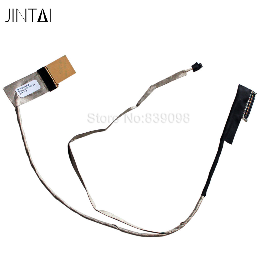 100% NEW JINTAI LAPTOP NEW LCD LED VIDEO Display Ribbon Cable FOR HP Pavillion 15-E LDD0R65LC030 R65LC030 719871-001 new for hp 15g 15r 15 g040ca 15 6 lcd back cover
