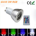 GU10 3W LED RGB Light Bulb Lamp Spotlight AC85-265V Colorful lights 16 Colors Changing+24key IR Remote Controller Magic Lighting