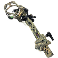 5 pins Compound Bow Sight 019 Micro Adjustable Compound Bow Sight with Light Outdoor Hunting Athletics Bow Sight Accessories