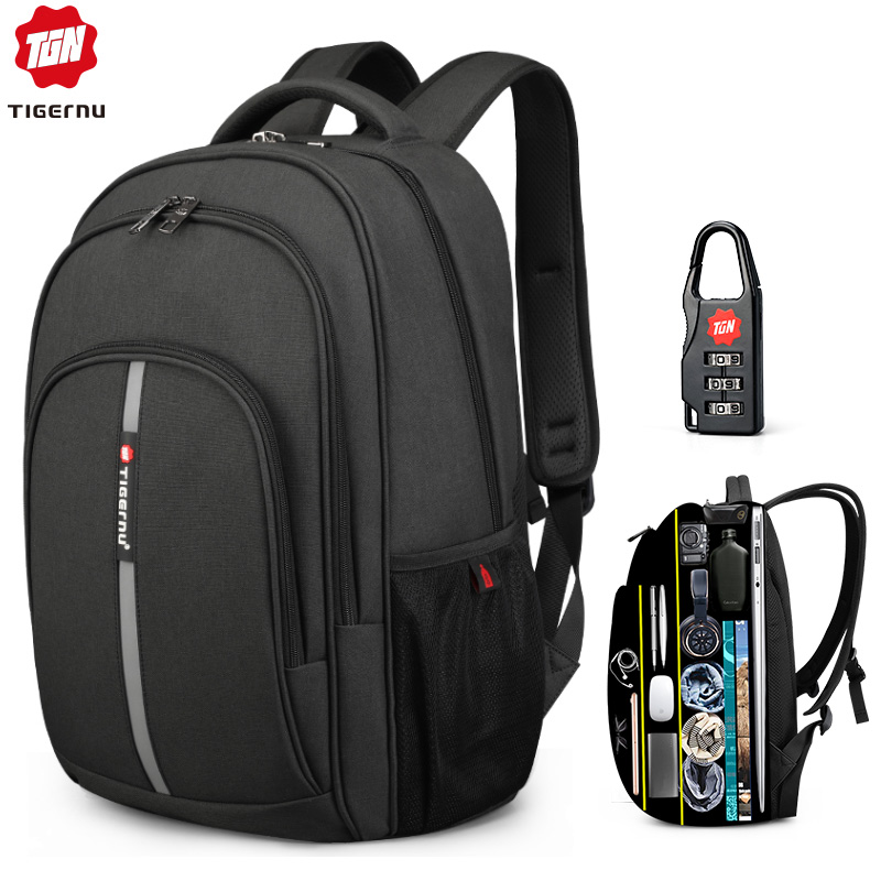 2019 New Large Capacity 15 6 inch Anti Theft Backpack Waterproof Laptop Men High Quality Business