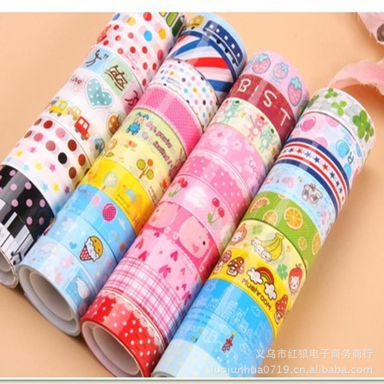 1pcs candy hot flower tape decoration roll diy washi for Decoration masking tape