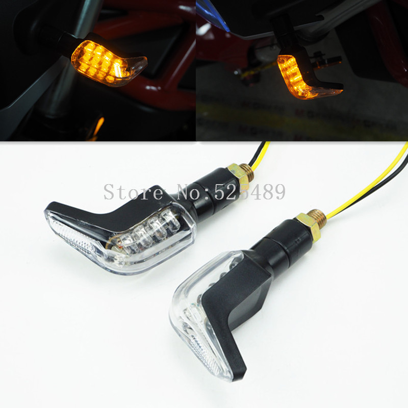 1 Pair 12v Universal Motorcycle Turn Signal Light Led Indicator