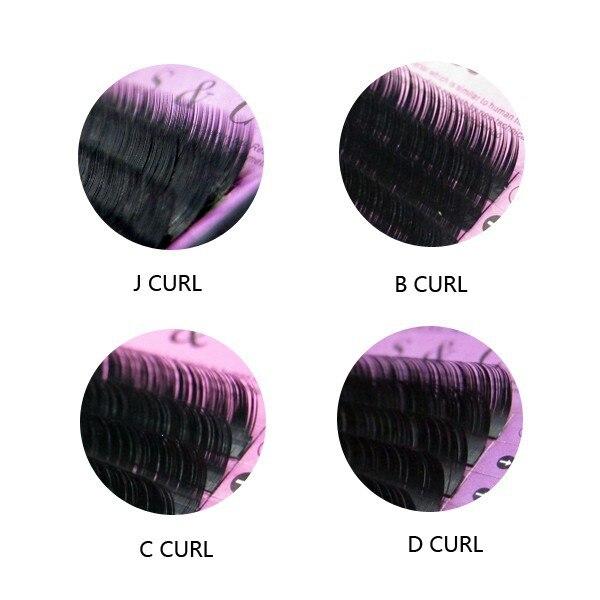S & C 15 лотки J B C D Curl Природный индивидуальный корейский Наращивание ресниц