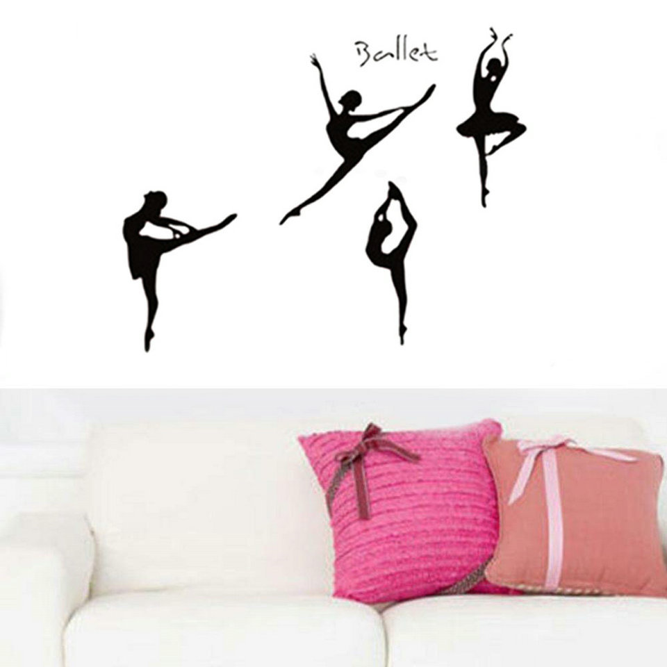 Ballerina wall decal ballerina dancer dance ballet vinyl wall ballerina wall decal ballerina dancer dance ballet vinyl wall decal graphic stickers for girls kids bedroom home wall decals in wall stickers from home amipublicfo Gallery