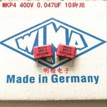 2019 hot sale 10pcs/20pcs WIMA capacitor MKP4 400V 0.047UF 473 47nf P: 10mm Audio free shipping