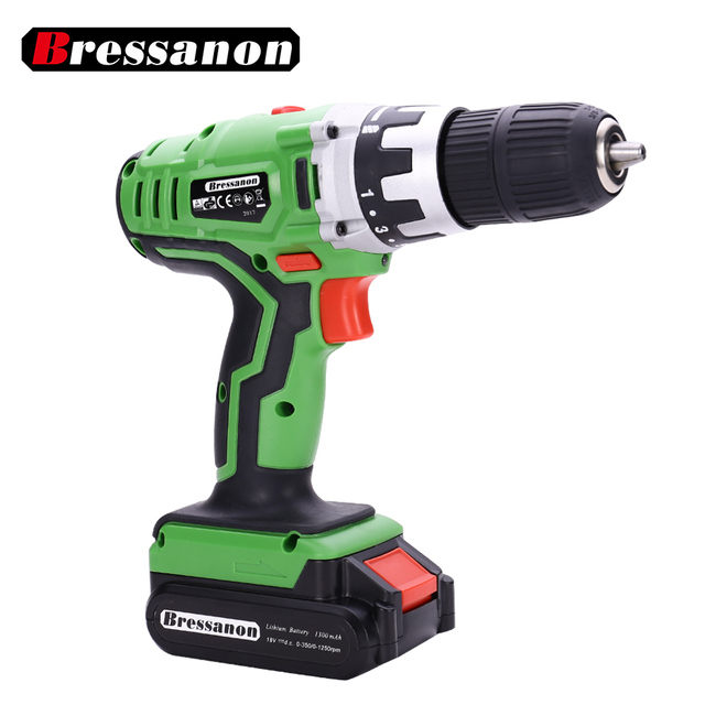 18V Quick Charge Li ion Double Speed DC Electric Drill Lithium ...