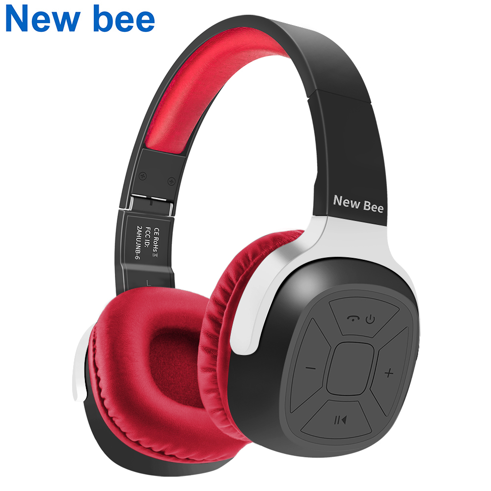 New Bee Folder Bluetooth Headphone Portable Bluetooth Headset Sport Earphone with Mic Pedometer Earbud Case for Phone PC TV new bee nb 6 foldable bluetooth headset red