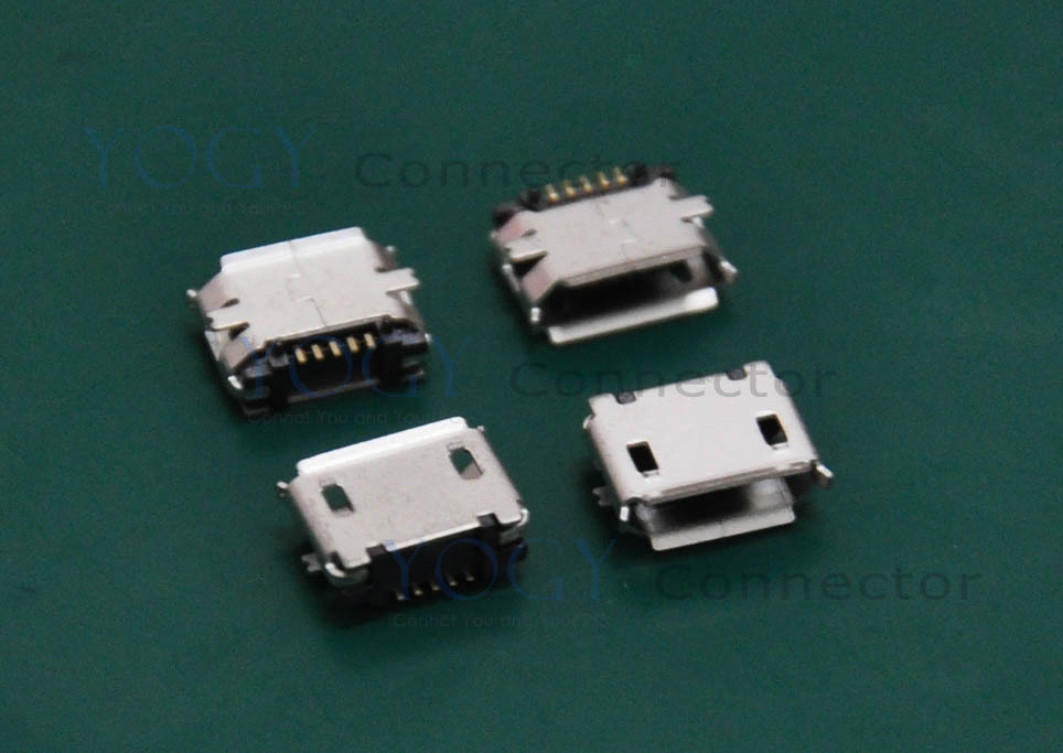 (30 pcs/lot)SMT Type-B Micro USB Female Connector Receptacle, Commonly used in Phone circuit board