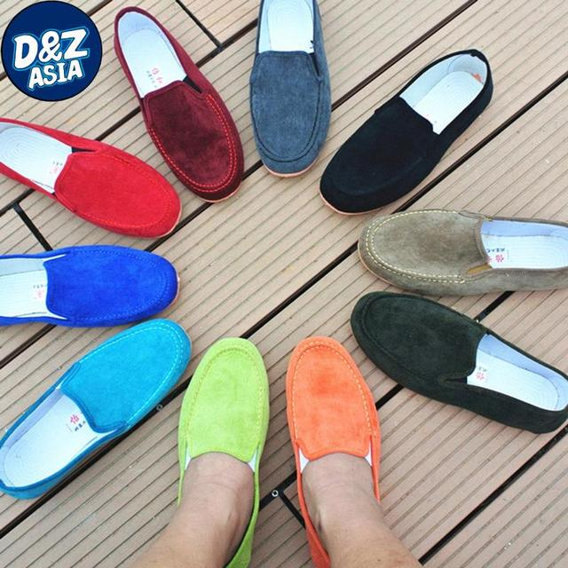 Бесплатная доставка осенняя мода вельветовые туфли квартиры обувь ленивый педали хлопка сделал обувь повседневная обувь Мокасины резиновые Квартиры