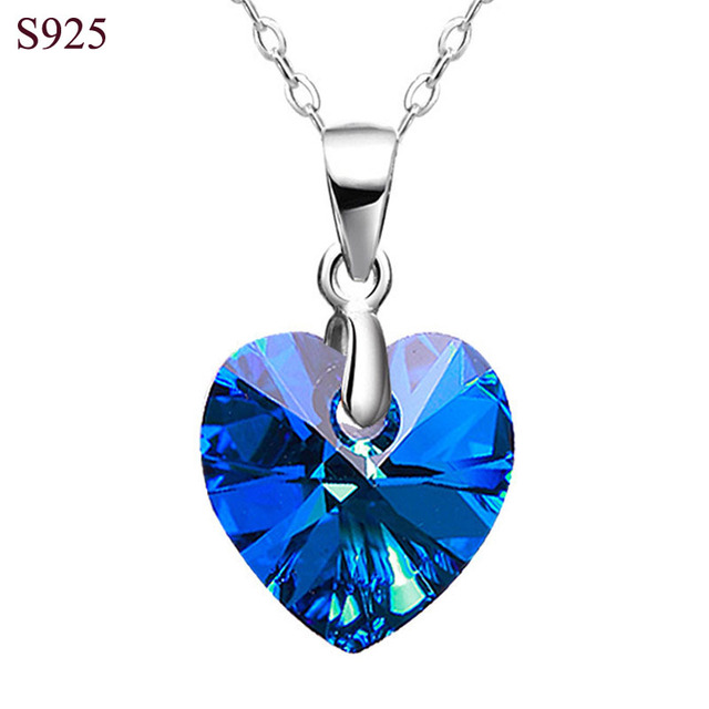 Real pure solid 925 sterling silver pendant for women female jewelry real pure solid 925 sterling silver pendant for women female jewelry titanic ocean heart cubic zircon aloadofball Image collections