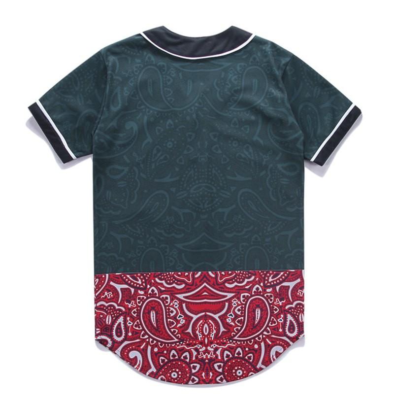 Newest Men`s Shirts Retro Mens Hipster Hip Hop Button-Down Baseball Jersey Casual V-neck Short Sleeve Fancy Shirts Men M-XXXL (14)