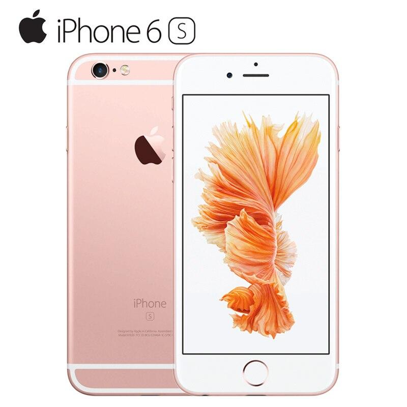 Оригинальное разблокирована Apple iPhone 6 s смартфон 4.7 iOS 9 двухъядерный A9 iOS 9 16/64/ 128 ГБ Встроенная память 2 ГБ Оперативная память 12.0mp 4 г LTE мобильн...