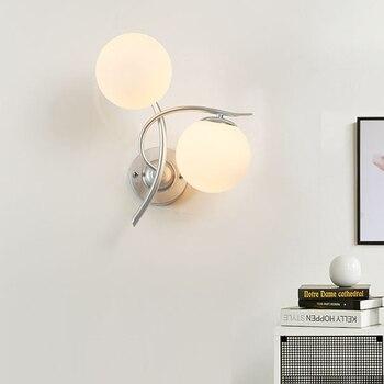 โคมไฟติดผนัง led ตกแต่งห้องนอนโคมไฟผนัง Nordic ทางเดิน corridor โคมไฟและโคมไฟหัวเตียง