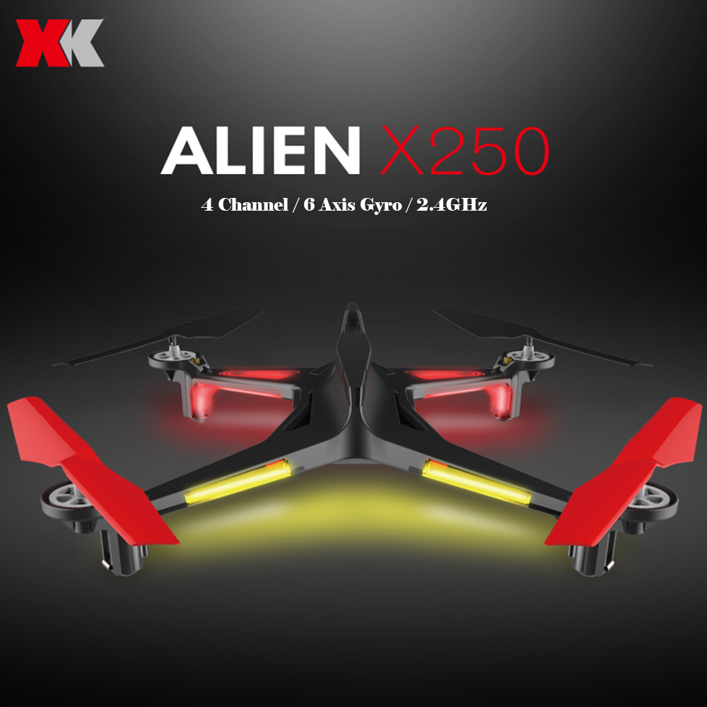 New Arrvial ALIEN XK X250 RC Drone Without Camera toys2.4GHz 4CH 6-Axis RC Quadcopter A Key Return Headless RC Aircraft RTF xk x250 4ch 6 axis rc quadcopter rtf 2 4g xk alien x250 free shipping