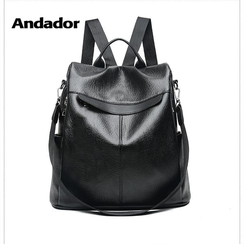 Anti-Theft Backpack Shoulder-Bag Larger-Capacity Female Black Casual Women New-Fashion