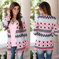 Womens  Sleeve Loose Cardigan Knitted suit Jumper Coat Jacket Outwear open stitch 2016