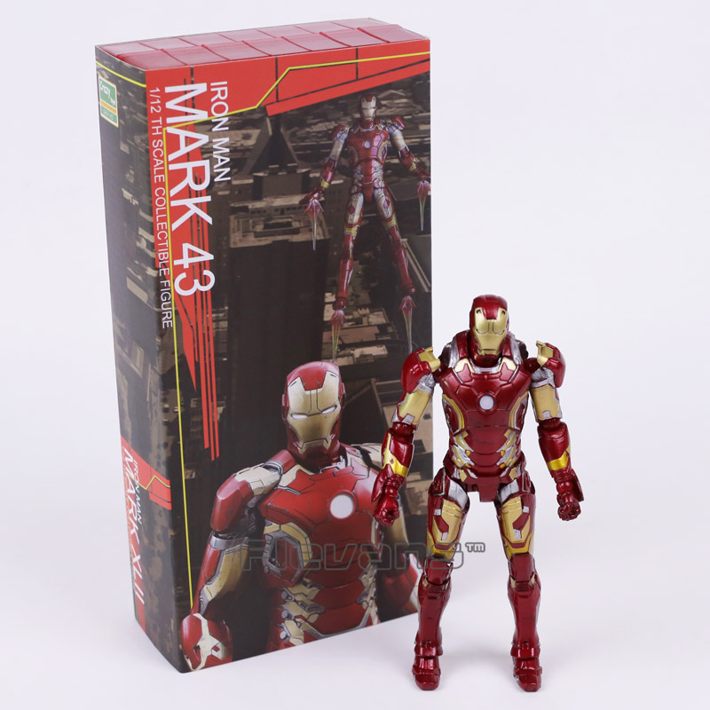 Crazy Toys Iron Man Mark XLIII MK 43 1/12 th Scale Collectible Action Figure crazy toys avengers age of ultron iron man mark xliii mk 43 pvc action figure collectible model toy 12inch 30cm