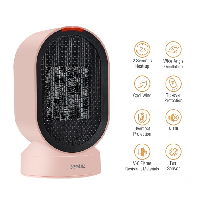 600 W Handy Electric Heater Portable Mini Room Air Heater Desktop Warmer for Home and Office in Winter