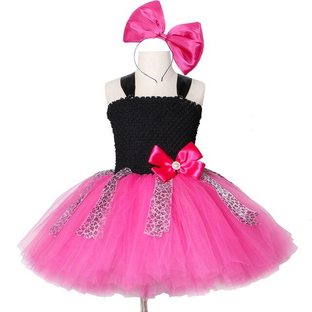 Lol Girls Tutu Dress Bow Leopard Cute Tulle Princess Birthday Party Dress Girl Kids Carnival Halloween Lol Dolls Cosplay Costume