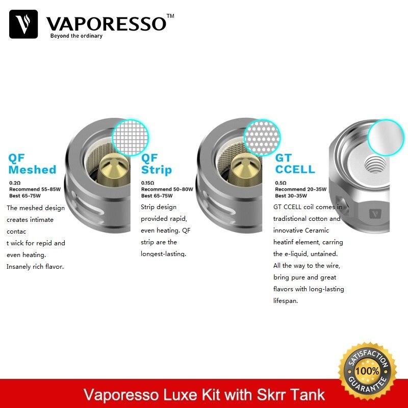 Vaporesso Luxe 220 w Kit 8 ml Skrr Vaporisateur Réservoir Boîte Mod avec Double 18650 Batterie QF Maillé Bobine Vaporisateur e-Cigarettes Kit VS Vengeur - 5
