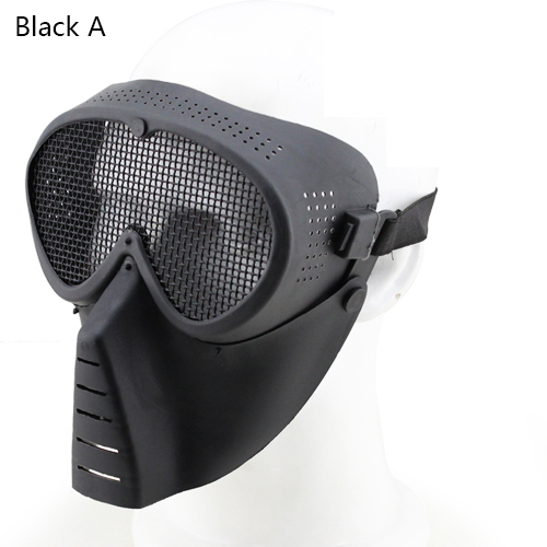 Small Fly Mask Skull Military Mask Paintball Half Face Mask Hunting Paintball Mask Camouflage GZ90069