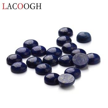 Großhandel 20 teile/los Dia 4/6/8/10/12/14/16mm Runde Flache zurück Lapis Lazuli Stein Cabochon Perlen für DIY Schmuck Machen
