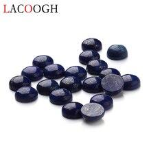 Wholesale 20pcs/lot Dia 4/6/8/10/12/14/16 mm Round Flat back Lapis Lazuli Stone Cabochons Beads for DIY Jewelry Making lapis lazuli round 16 mm leopard clasp necklace 18 nature wholesale beads