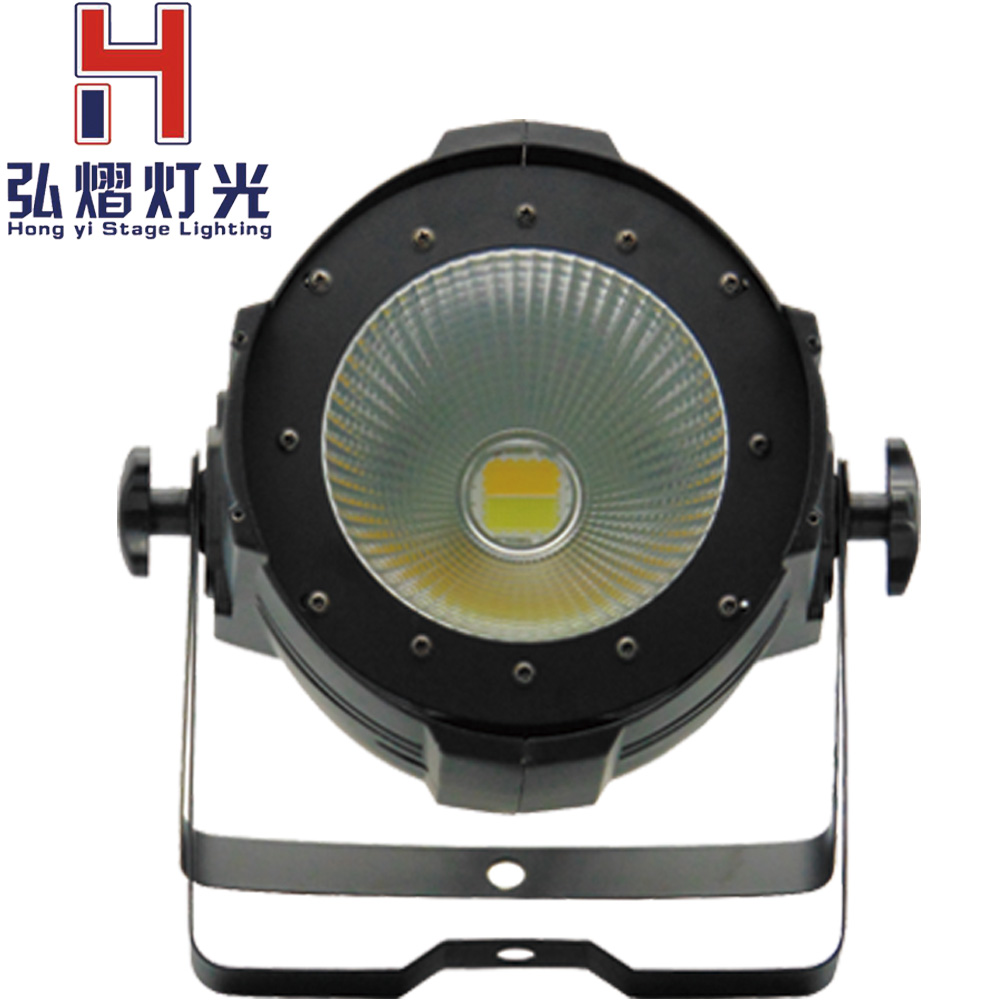 Professional Hongyi Stage Lighting/100W COB LED Par Can/cool white and warm white/LED dmx Stage Light /dj disco lighting led 200w cob led par aluminum alloy with barn doors cool or warm white 2in1 lighting lamp dmx for stage effect dj disco lighting