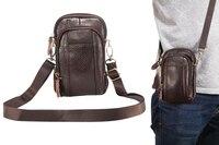 Shoulder Holster Belt Clip Genuine Leather Mobile Phone Case For BlackBerry Motion