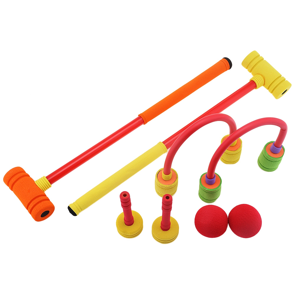 kids colorful foam croquet set portable sport toy for children great indoor and outdoor sports. Black Bedroom Furniture Sets. Home Design Ideas