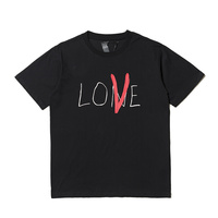 2018 S S Best Quality Vlone Valentine S Day Limit LOVE Printed Women Men Couple T