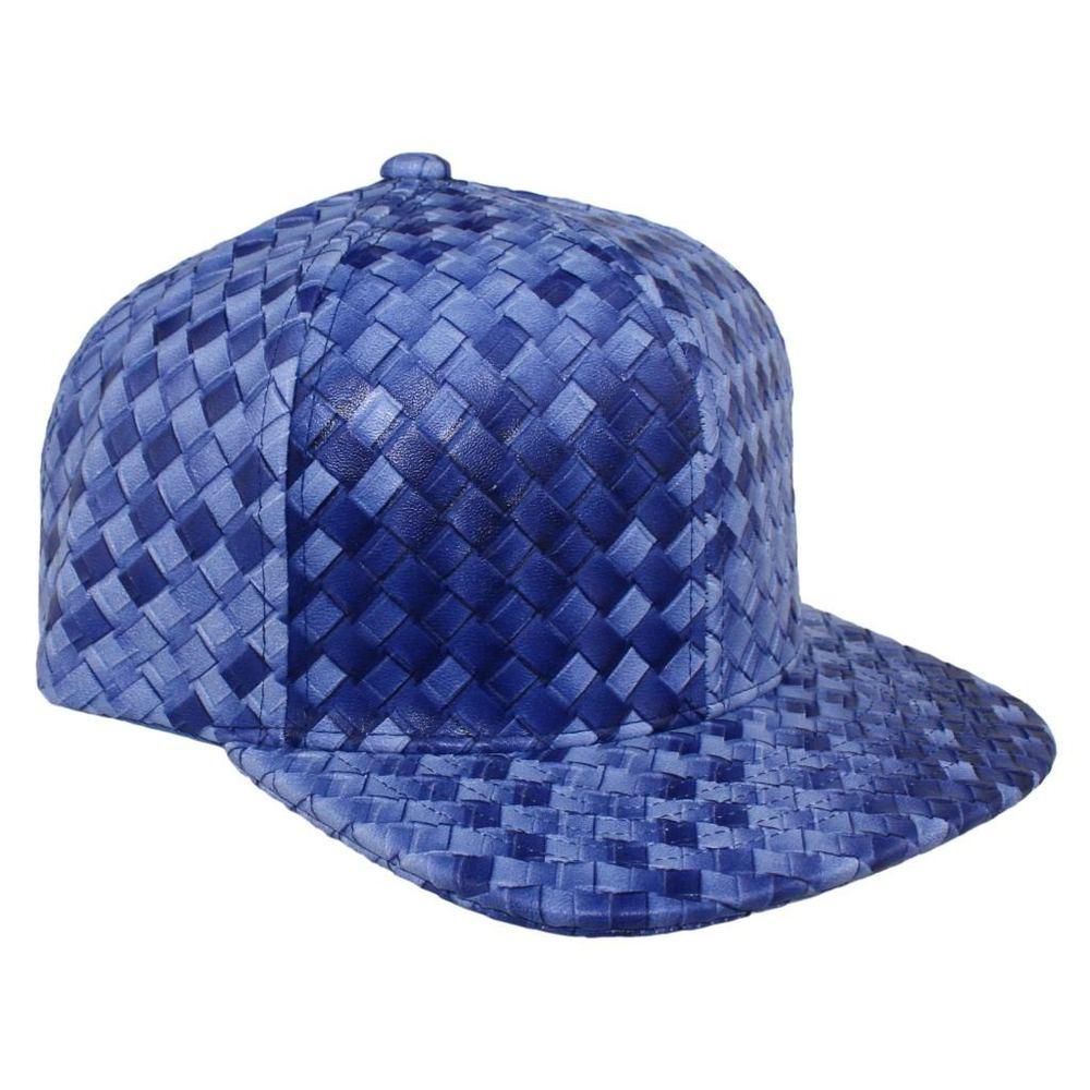 Bboy в стиле хип-хоп Танцы Шапки и шляпа бейсболка Человек Женщины Креста Ткань Кожа Cap Летний плед дизайн открытый ВС шляпы Повседневная 7 видов цветов - Цвет: Синий