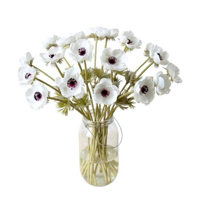 48 pcs Anemone Flower Home Decoration Pasque flower Wedding Artificial Flower Floral Event Party Flower Free