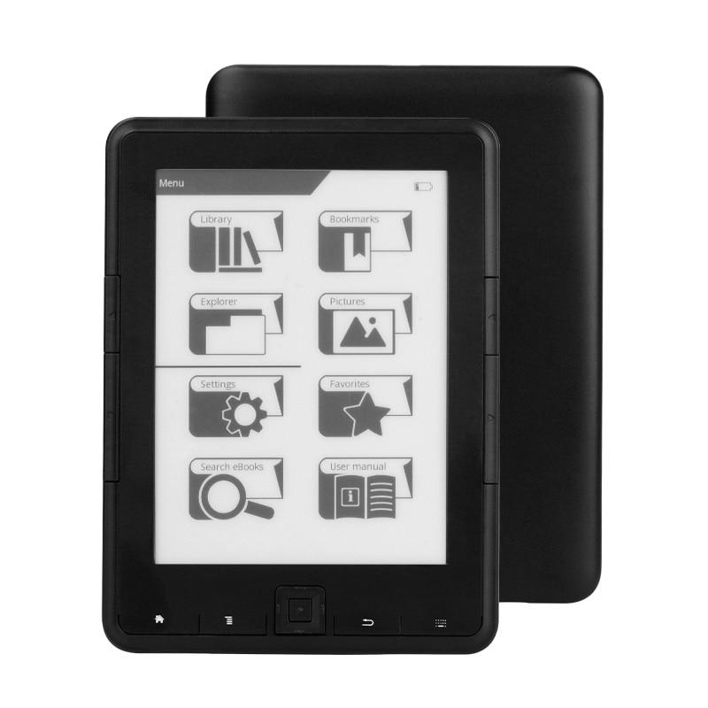 CLAITE 4G/8G/16G 6 pouces ebook lecteur e-ink 6 pouces résolution 800x600 4 e livre lecteur e-ink Ereader