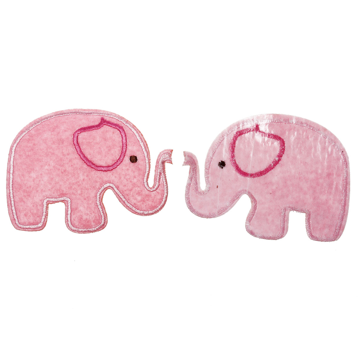 "Blue Pink Elephant Patches Elephant Appliques Iron On or Sew On  8cm 3/""inch"