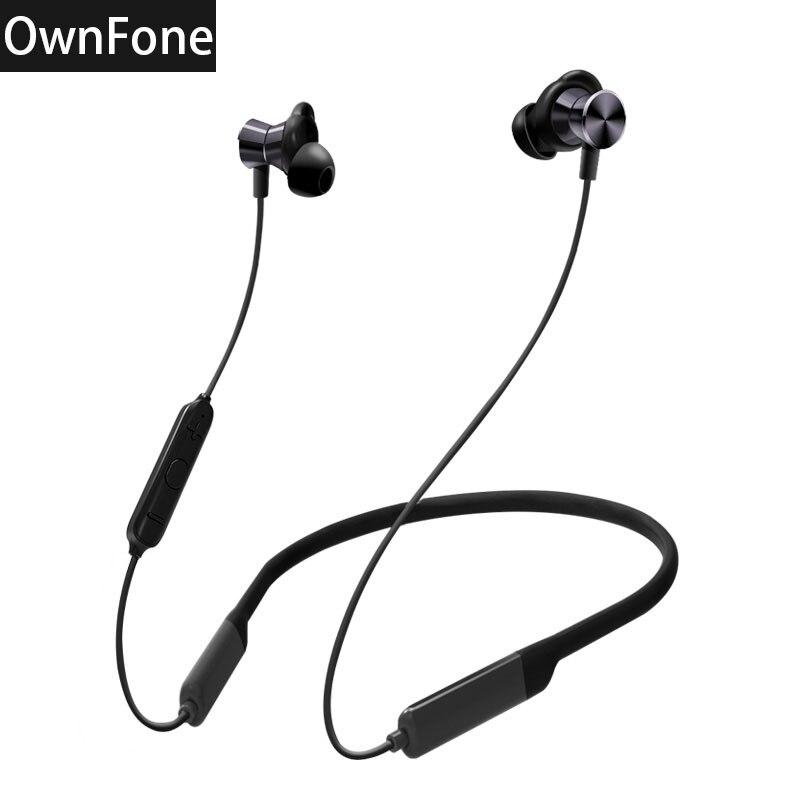 Own-BT201 Drahtlose Bluetooth Stereo Kopfhörer Neckband Wasserdicht Ohrstöpsel Sport Kopfhörer Schwere Bass Lange Standby Bluetooth 4,2