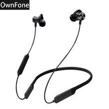Own-BT201 беспроводные Bluetooth стереонаушники с шейным ремешком водонепроницаемые наушники для ушей спортивные наушники тяжелый бас длительное время ожидания Bluetooth 4,2