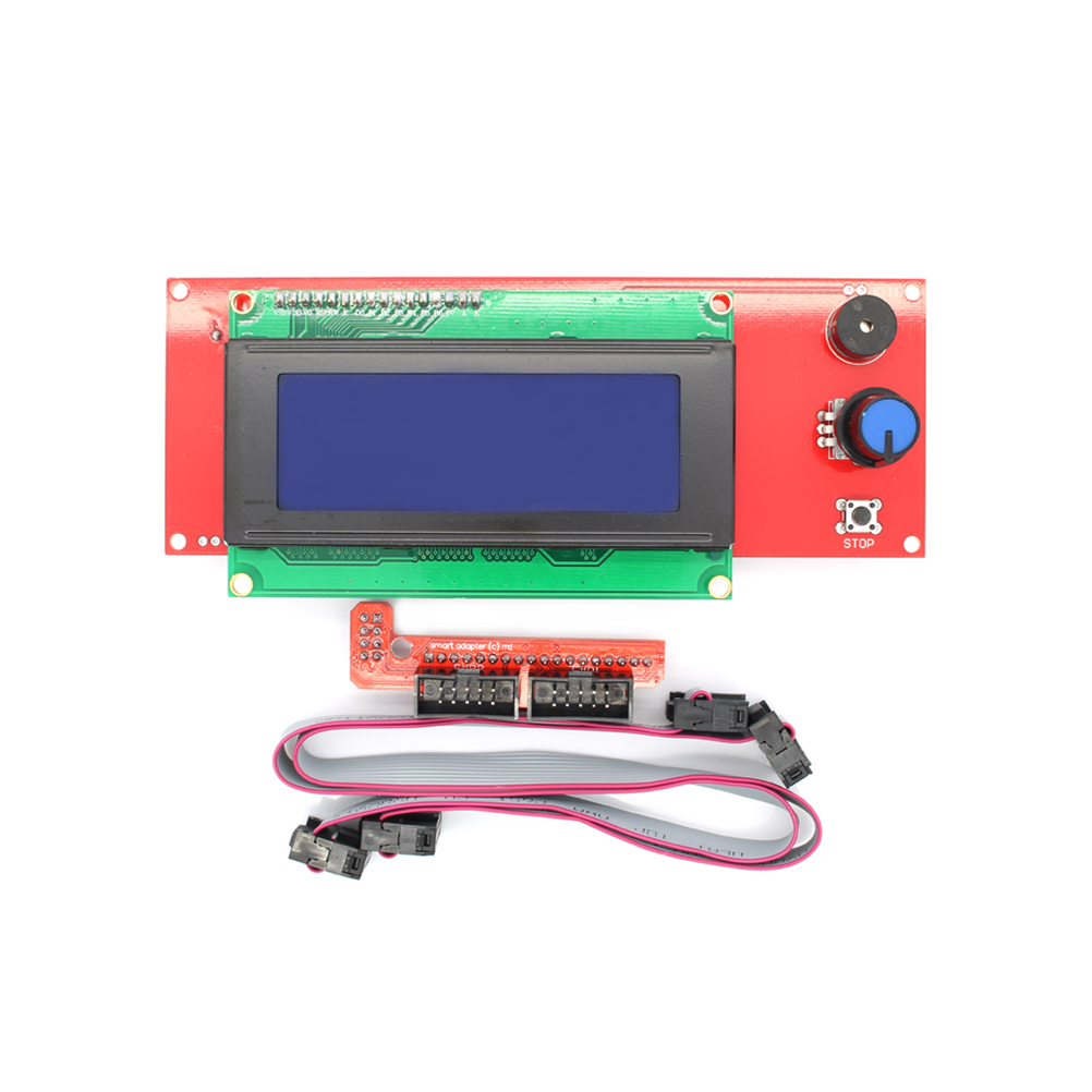 3D Printer Kit Smart Parts RAMPS 1.4 Controller Control Panel LCD 2004 Module Display  Motherboard Blue Screen