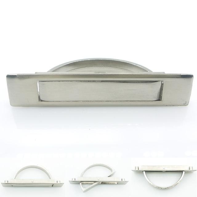 Recessed Hidden Zinc Alloy Floor Cabinet Pull Handle Embedded Door Knob  Cupboard Dresser Drawer Flush Pull