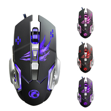 Professional gaming mouse 6 Button 3200 DPI 4 color LED breathing  light Mechanical Gaming Mouse Mice USB Wired Game Mouse Mice logitech g102 wired mouse gaming optical 200 6000 dpi gaming mice rgb led mouse