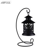 Portavelas ASFULL europeo, portavelas de Metal Vintage, candelabro colgantes para artículos, farol con decoración del hogar para bodas, envío gratis
