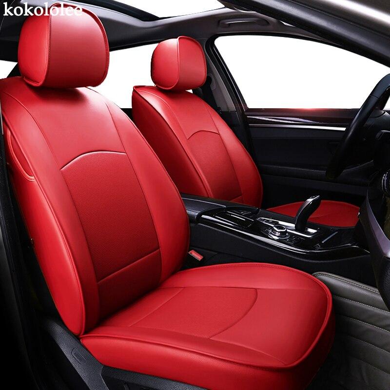 Kokolololee personnalisé en cuir véritable housse de siège de voiture pour cadillac SRX ESCALADE ATS Automobiles housses de siège de voiture sièges protecteur
