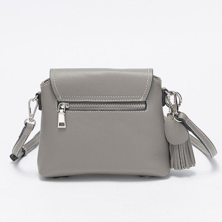 100% Genuine Leather Women Handbags Zipper Womens Shoulder Bag Ladies Messenger Bags Tassel Vintage Womens Crossbody Bag