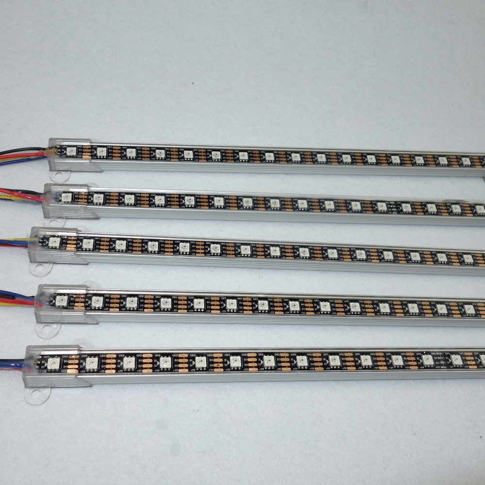 WS2813 addressavke 1M long DC5V 60LEDs led digital bar lightIP68 rated,U type alu shellblack pcb